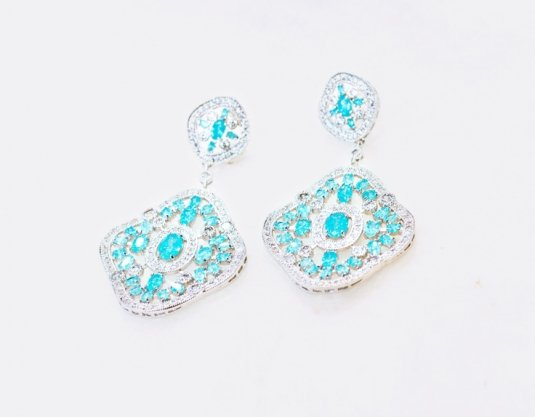 A For Aquamarine Earrings