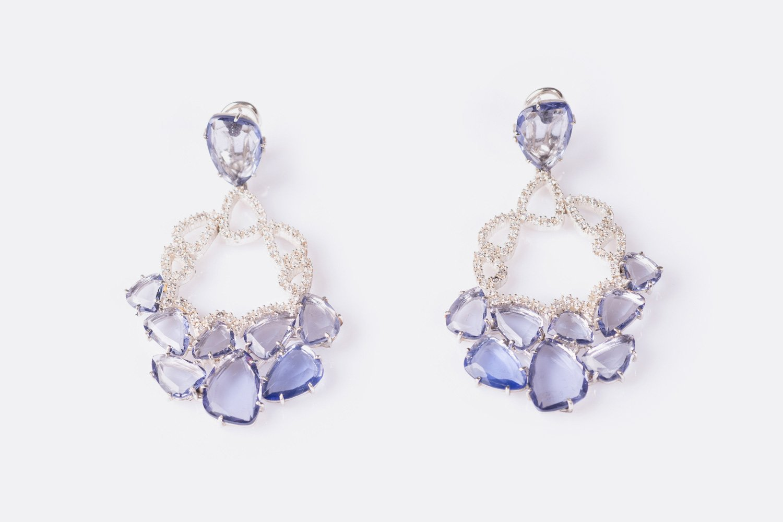 Princess Earrings In Blue